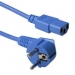 ACT Powercord mains connector CEE7/7 male (angled) - C13 blue   0.60 m