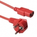 ACT Powercord mains connector CEE7/7 male (angled) - C13 red   0.60 m