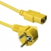 ACT Powercord mains connector CEE7/7 male (angled)  - C13 yellow   0.60 m